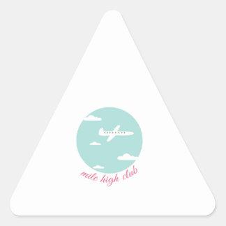 Mile High Club Triangle Sticker