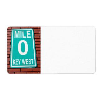 mile marker sign