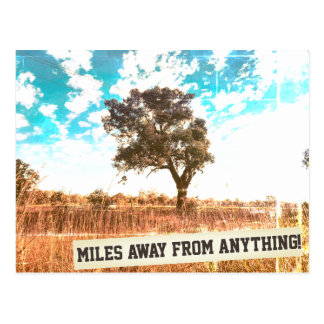 Miles Away From Anything Postcard