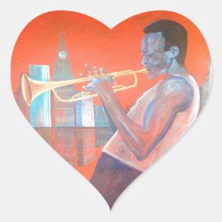 Miles Davis Heart Stickers