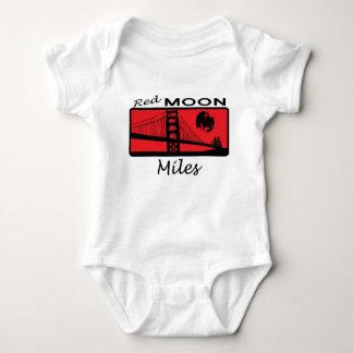 Miles Red Moon Baby Bodysuit
