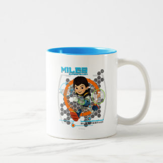 Miles Superstellar Running Graphic Two-Tone Coffee Mug