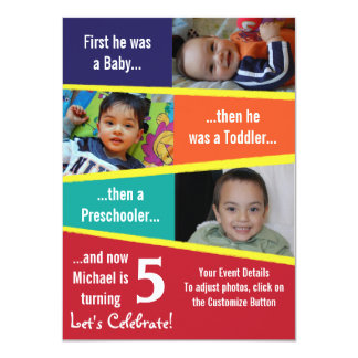 "Milestone Birthday 4.5"" X 6.25"" Invitation Card"