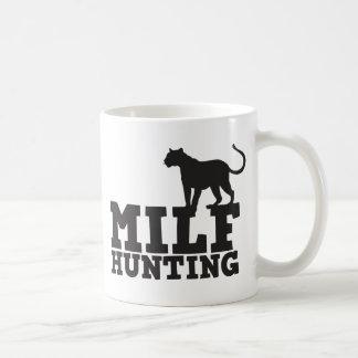 milf hunting basic white mug