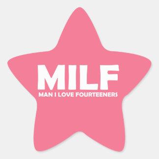 MILF (Man I Love Fourteeners) Star Sticker