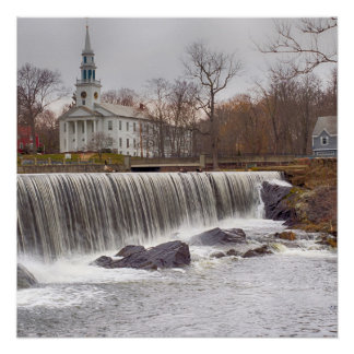 Milford  Connecticut Waterfall Poster