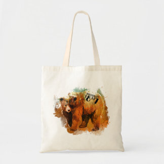 Milford PA 18337 Colorful Bear Design Tote Bag