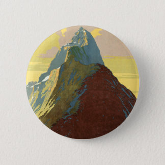 Milford Sound New Zealand Mountain 2 Inch Round Button