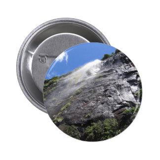 Milford Sound (Piopiotahi) Waterfall Up Close POV 2 Inch Round Button