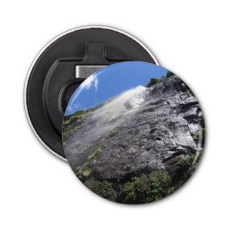 Milford Sound (Piopiotahi) Waterfall Up Close POV Button Bottle Opener