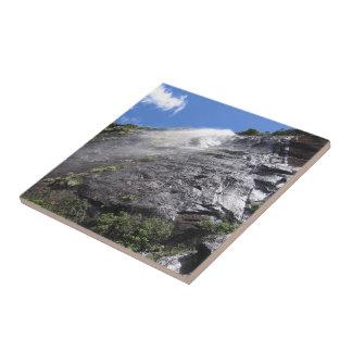 Milford Sound (Piopiotahi) Waterfall Up Close POV Ceramic Tiles