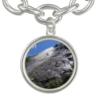 Milford Sound (Piopiotahi) Waterfall Up Close POV Charm Bracelets