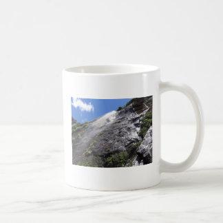 Milford Sound (Piopiotahi) Waterfall Up Close POV Coffee Mug