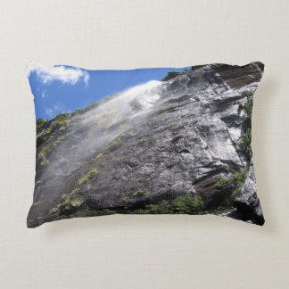 Milford Sound (Piopiotahi) Waterfall Up Close POV Decorative Pillow