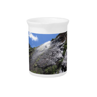 Milford Sound (Piopiotahi) Waterfall Up Close POV Drink Pitcher