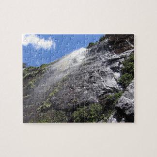Milford Sound (Piopiotahi) Waterfall Up Close POV Jigsaw Puzzle
