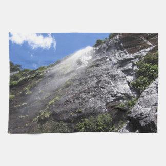 Milford Sound (Piopiotahi) Waterfall Up Close POV Kitchen Towels