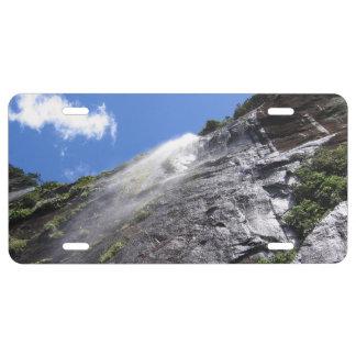 Milford Sound (Piopiotahi) Waterfall Up Close POV License Plate