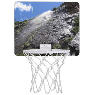Milford Sound (Piopiotahi) Waterfall Up Close POV Mini Basketball Backboard