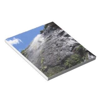 Milford Sound (Piopiotahi) Waterfall Up Close POV Notepads