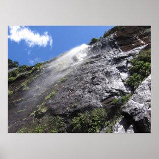Milford Sound (Piopiotahi) Waterfall Up Close POV Poster