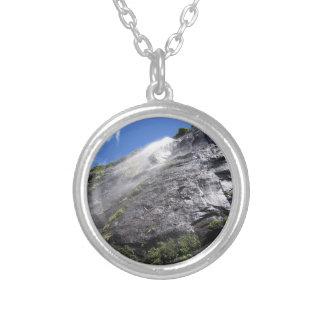 Milford Sound (Piopiotahi) Waterfall Up Close POV Silver Plated Necklace