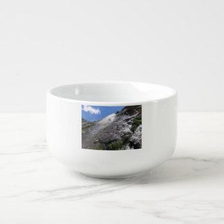 Milford Sound (Piopiotahi) Waterfall Up Close POV Soup Mug