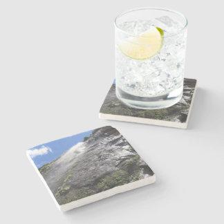 Milford Sound (Piopiotahi) Waterfall Up Close POV Stone Beverage Coaster