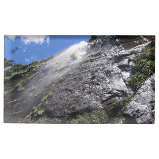 Milford Sound (Piopiotahi) Waterfall Up Close POV Table Card Holder