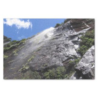 Milford Sound (Piopiotahi) Waterfall Up Close POV Tissue Paper