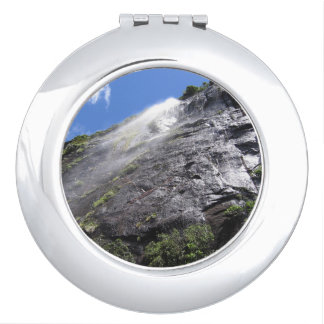 Milford Sound (Piopiotahi) Waterfall Up Close POV Vanity Mirror