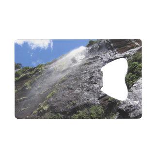 Milford Sound (Piopiotahi) Waterfall Up Close POV Wallet Bottle Opener