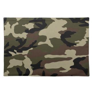militaires d'armée de motif de camouflage d'impres set de table