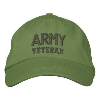 Militaires de vétéran d'armée chapeau brodé