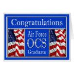 Military Air Force OCS Graduation Card