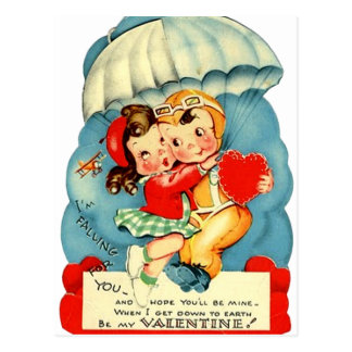 Military Air Force Valentine's Day Postcard