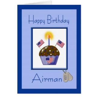 Military Airman Birthday Card