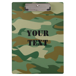 Military army green camouflage color clipboard