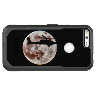 Military Attack Helicopter Against Full Moon OtterBox Commuter Google Pixel XL Case