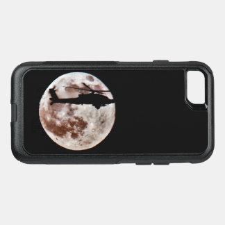 Military Attack Helicopter Against Full Moon OtterBox Commuter iPhone 8/7 Case