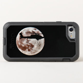 Military Attack Helicopter Against Full Moon OtterBox Defender iPhone 8/7 Case