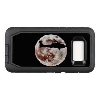 Military Attack Helicopter Against Full Moon OtterBox Defender Samsung Galaxy S8 Case