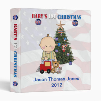 "Military Baby's 1st Christmas 1"" Photo Album Binders"