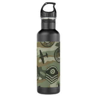 Military badges 710 ml water bottle