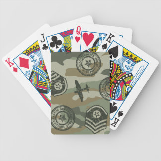Military badges bicycle playing cards