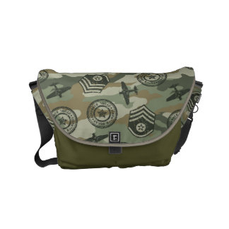 Military badges commuter bags