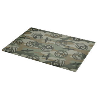Military badges cutting board