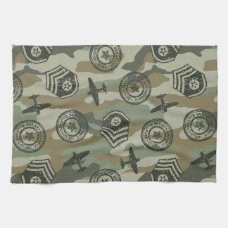 Military badges kitchen towel