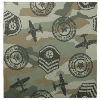 Military badges napkin