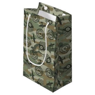 Military badges small gift bag
